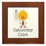 Optometry Chick Optometrist Framed Tile