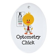 Optometry Chick Optometrist Ornament (Oval)