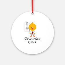 Optometry Chick Optometrist Ornament (Round)