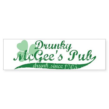 Drunky McGee's Pub - Drunk Since 1905 Sticker (Bum