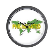 You've Been Philiminated Wall Clock