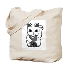 Lucky Cat w/Pink Nose Tote Bag