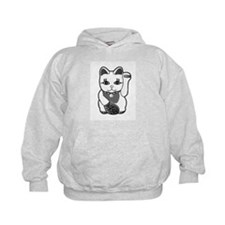 Lucky Cat w/Pink Nose Hoodie
