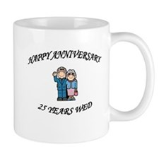 Cute Happy 25th anniversary Mug