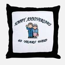 Cute Wedding anniversary party Throw Pillow