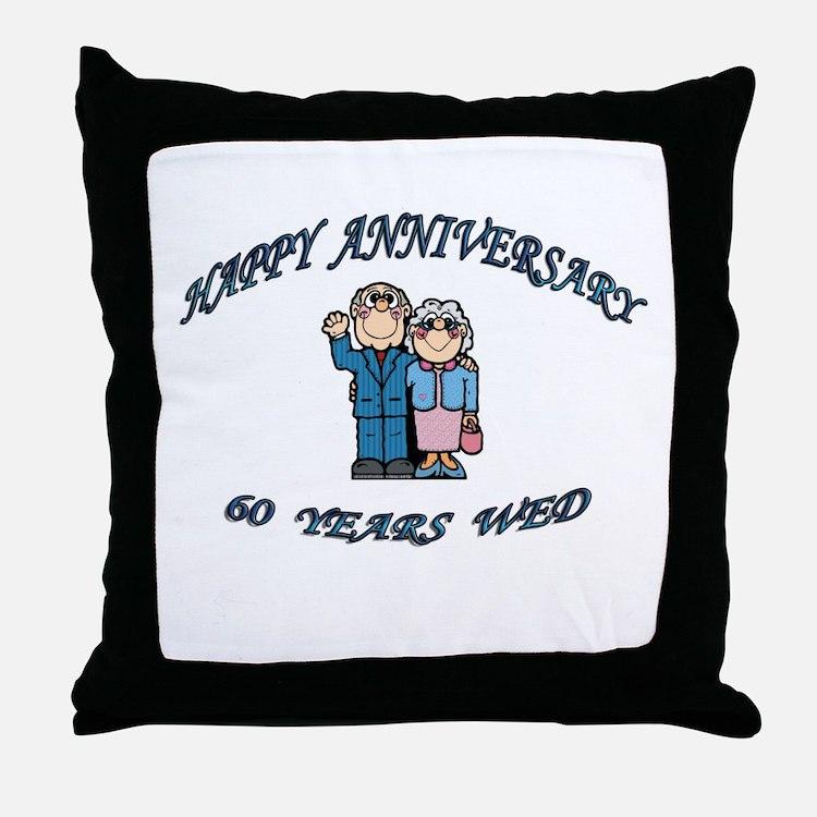 Cute 60th party Throw Pillow