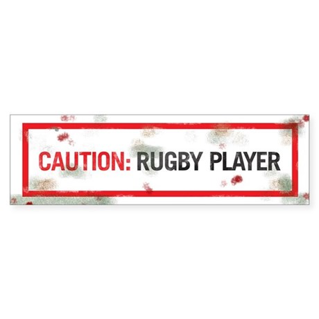 CAUTION. RUGBY PLAYER.