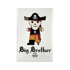 Pirate 1 Big Brother Rectangle Magnet