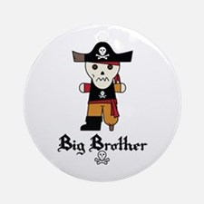 Pirate 1 Big Brother Ornament (Round)