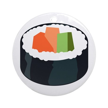 I Love Sushi Ornament (Round)