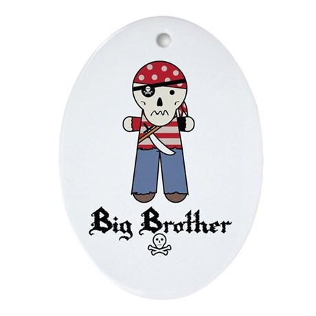 Pirate 2 Big Brother Ornament (Oval)