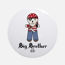 Pirate 2 Big Brother Ornament (Round)
