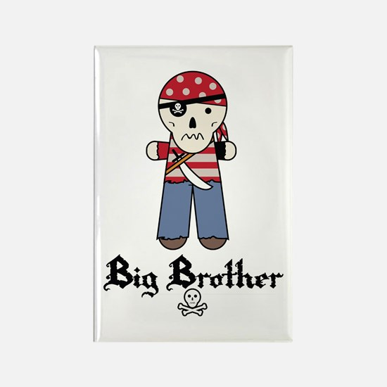 Pirate 2 Big Brother Rectangle Magnet