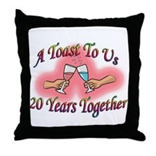 Cool Twentieth anniversary Throw Pillow