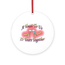 Cute 25th anniversary Ornament (Round)