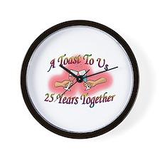 Unique 25th wedding anniversary Wall Clock
