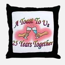 Funny 25th wedding anniversary Throw Pillow