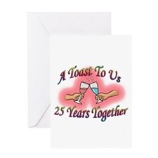 Cute 25th wedding anniversary Greeting Card