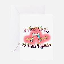 Cute 25th anniversary Greeting Card