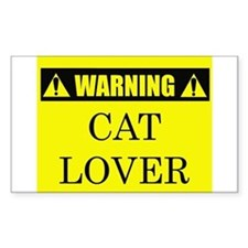 WARNING: Cat Lover Decal