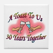 Cool 30th anniversary Tile Coaster