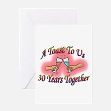 Funny 30th anniversaries Greeting Card