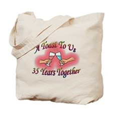 35th wedding anniversary Tote Bag