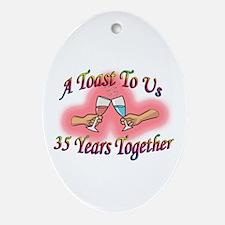 Unique Wedding anniversaries Oval Ornament