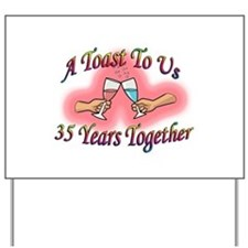 35th wedding anniversary Yard Sign
