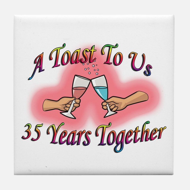 Cute Wedding anniversary party Tile Coaster