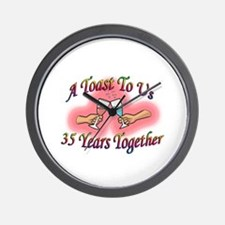 Cute Married couples Wall Clock