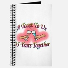Cute 25th wedding anniversary party favors Journal