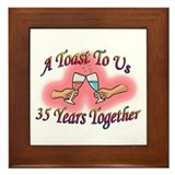 35th wedding anniversary Framed Tiles
