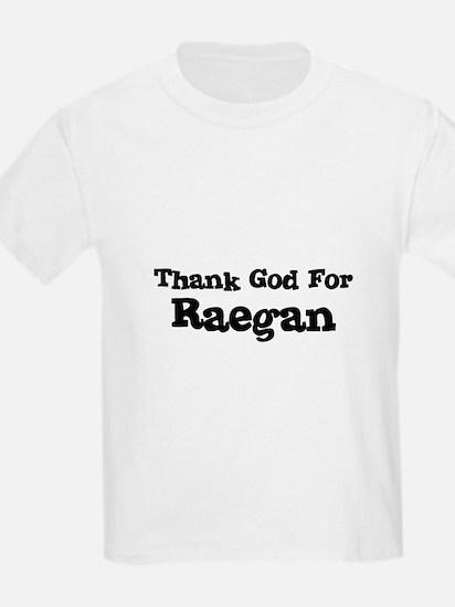Thank God For Raegan Kids T-Shirt