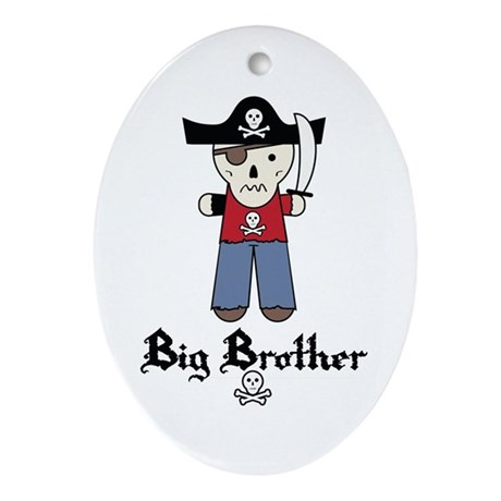 Pirate 3 Big Brother Ornament (Oval)