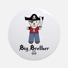 Pirate 3 Big Brother Ornament (Round)
