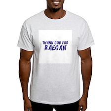 Thank God For Raegan Ash Grey T-Shirt