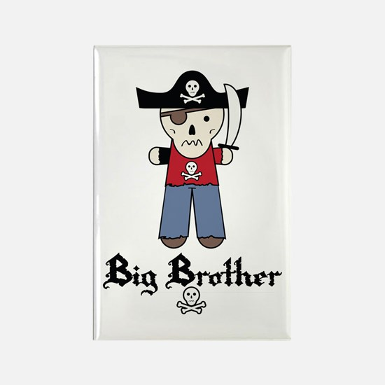 Pirate 3 Big Brother Rectangle Magnet