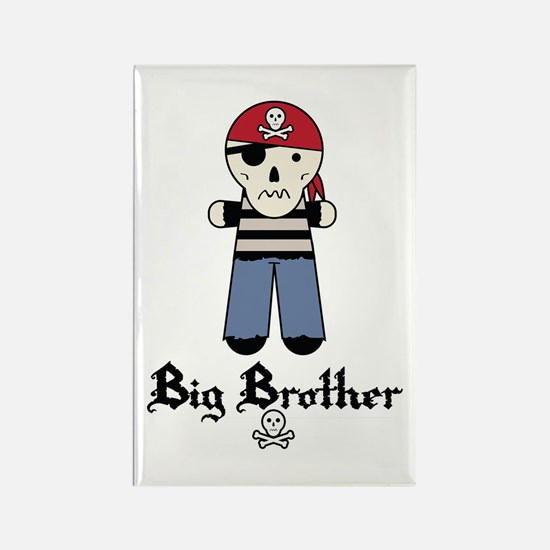 Pirate 4 Big Brother Rectangle Magnet
