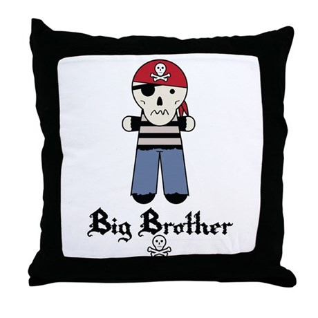 Pirate 4 Big Brother Throw Pillow