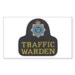 Sussex Police Traffic Warden Sticker (Rectangle 50
