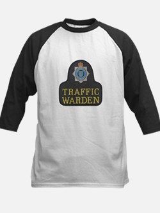 Sussex Police Traffic Warden Kids Baseball Jersey