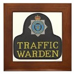 Sussex Police Traffic Warden Framed Tile