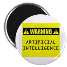 "WARNING: Artificial Intelligence 2.25"" Magnet (100"