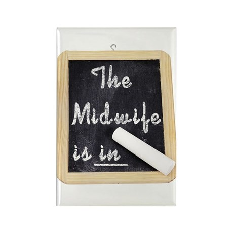 The Midwife Is In Rectangle Magnet (10 pack)