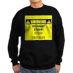 WARNING: Vet Student Under Pressure Sweatshirt (da