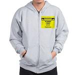 WARNING: Vet Student Under Pressure Zip Hoodie