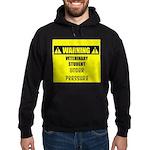 WARNING: Vet Student Under Pressure Hoodie (dark)