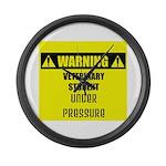 WARNING: Vet Student Under Pressure Large Wall Clo