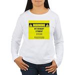WARNING: Vet Student Under Pressure Women's Long S